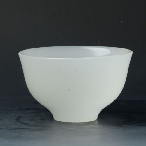 Superb Hand-carved Natural White Jade Bowl