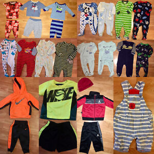 Bundle of baby boy clothes sizes 6-12 great condition