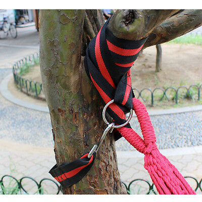 2 SET Camping Hammock Straps Tree Hanging Hook Strap Kit 9.1ft