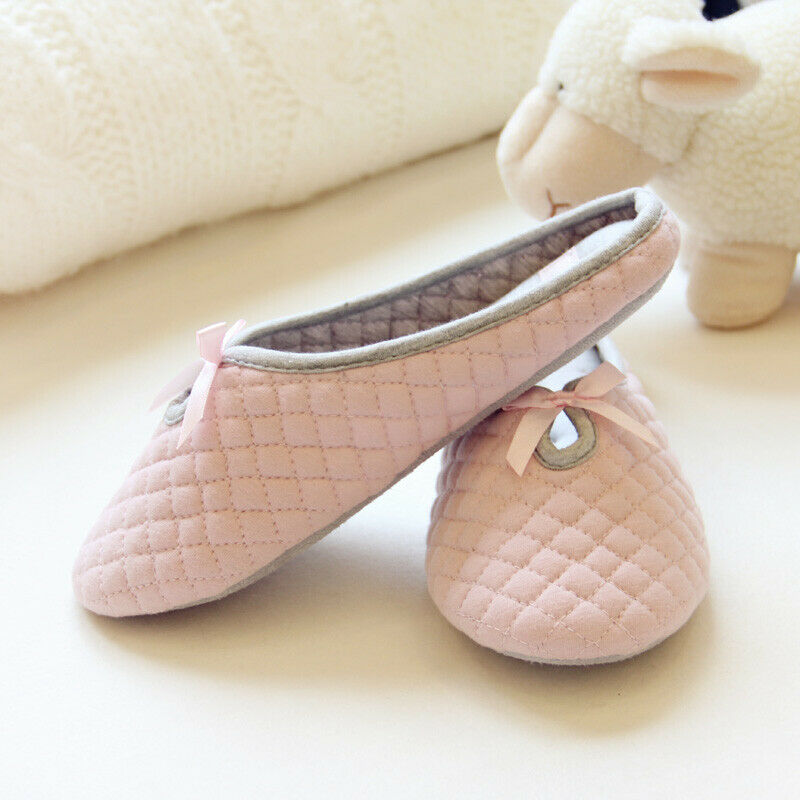 Premium Women's Cozy Breathable Cotton Slippers (2-Pairs) 1