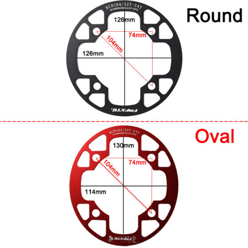32-38t 104BCD Narrow Wide Chainring MTB Bike Round Oval Chainwheel Chain Guard