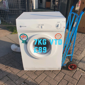 White Knight 7kg vented dryer free delivery 😋 👌