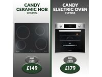 Brand New Candy Ceramic Hob (£149) & Candy Electric Oven (£179) - Delivery Available