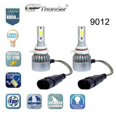 2x 9012 HIR2 LED Headlight Bulb GP Thunder High/Low Beam Kit 80W 6000K Pair