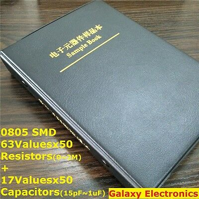 0805 1 Smd Chip Resistor Capacitor Assortment Kit 6317 Values Sample Book