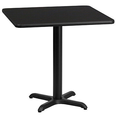 30 Square Black Laminate Table Top With 22 X 22 Table Height Base