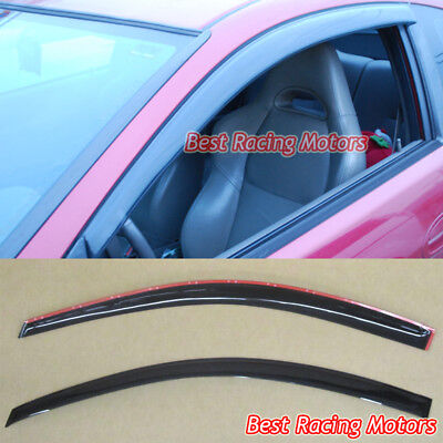 JDM Style Side Window Visors Fits 02-06 Acura RSX 2dr Acura Rsx 2dr Wings