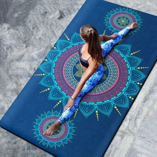 Yoga Mat Towel Soft Rectangular Beautiful Printed Fitness Workout Blanket Carpet