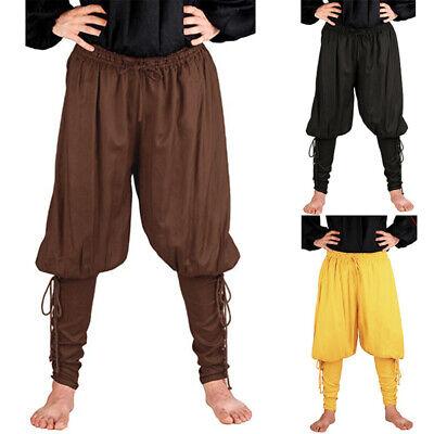 Mens Medieval Pirate Horseman Halloween Costume Loose Leg Bandage Pants Trousers](Halloween Bandages)