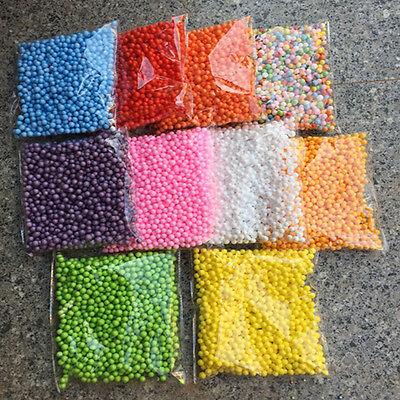 Hot New Assorted Colors Polystyrene Styrofoam Foam Filler Beads Balls Crafts - Styrofoam Beads