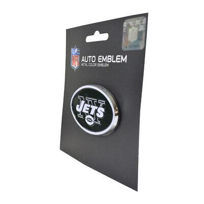 (Official Licensed - NFL New York Jets 3D Auto Metal Color Emblem)