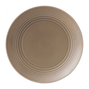 6 NEW Gordon Ramsay by Royal Doulton Maze Taupe Dinner Plates