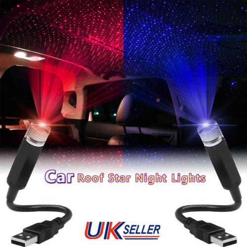 Car Parts - USB LED Car Interior Roof Atmosphere Star Night Light Lamp Projector Light Decor