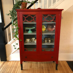 Antique China Cabinet refreshed with Annie Sloan chalk paint