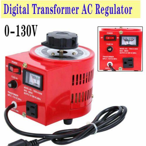 AC 0-130v/60Hz 500W Variac Transformer Auto AC Voltage Regulator Power Supply