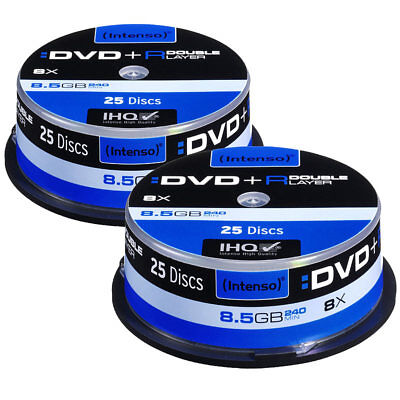 Intenso DVD+R 8,5GB 8x Double Layer, 2x 25er-Spindel