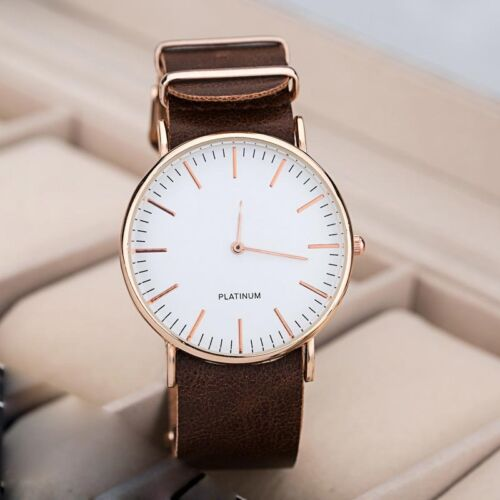 Fashion Casual Watches Men's Women's Leather Stainless Steel
