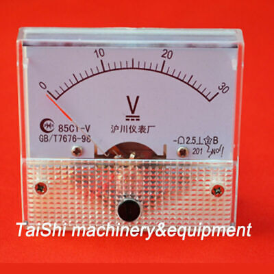 Dc 0-30v 85c1 Panel Meters Voltage Volt Meter Analog Voltmeter High Quality