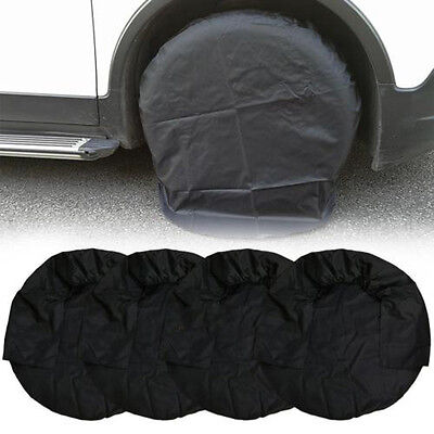 4pcs Set Wheel Tire Covers Accessories for RV Truck Car Camper Trailer - Black