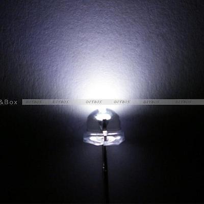 50100500pcs F5 5mm White Straw Hat Superbright Led Light Led Lamp