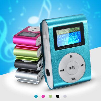 Mini USB Clip MP3 Music Media Player LCD Screen Support 32GB Micro SD TF Card