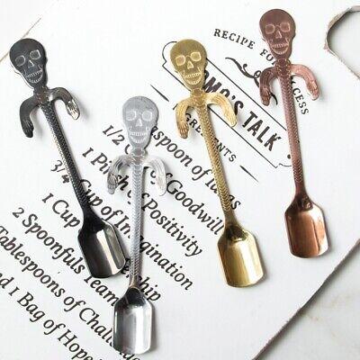 1x Stainless Steel Halloween Suger Spoon Skull Skeleton Coffee Tea Spoon Spatula](Suger Skull)