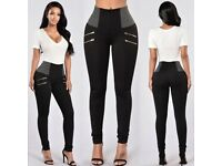 New Ladies Skinny Pencil Pants High Waist Stretch Slim Fit Cotton Jegging Trousers