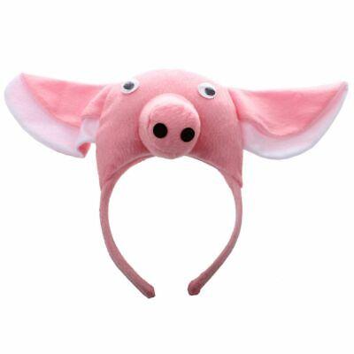 10x(3D Schwein Kopfband Tier Bauernhof Erwachsene Kinder Maske Kostuem Mask - Schwein Kopf Kostüm Maske