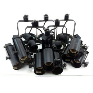 Lot 14 Lightolier Track Light Heads 3 Styles 300 Watts R 7522BK