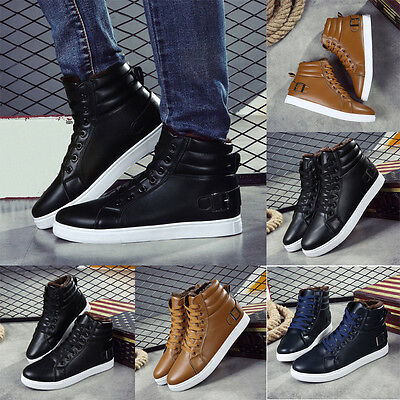 Men Winter Warm Leather Army Boots Fashion Lace Up Waterproof Ankle Boots