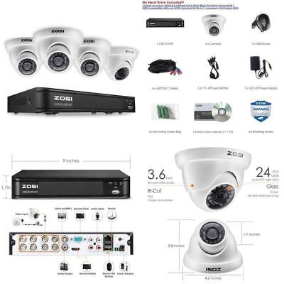 Security Camera System 1080P Surveillance DVR HD IR CCTV Outdoor Indoor Video  Dvr Surveillance System