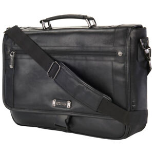 "BNWT - KENNETH COLE Florencia 16"" Leather Laptop Messenger Bag"
