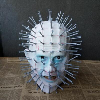 Hellraiser Mask Pinhead Ghost Scary Latex Helmet Halloween Horror Cosplay Props (Pinhead Mask)