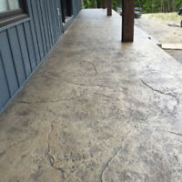 Stamped Concrete, Exposed Aggregate, and Plain Concrete