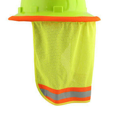 Breathable Reflective Hard Hat Neck Shield Rj-127 Can Used For Sun Shade Protect