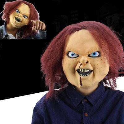 Horror Seed of Chucky 3D Halloween Mask Ghost Baby Doll Latex Headgear With - Chucky Doll Halloween Mask