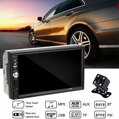 """7"""" Double 2Din Bluetooth Car Stereo Radio HD MP5 Player Touch Screen&Rear Camera"""