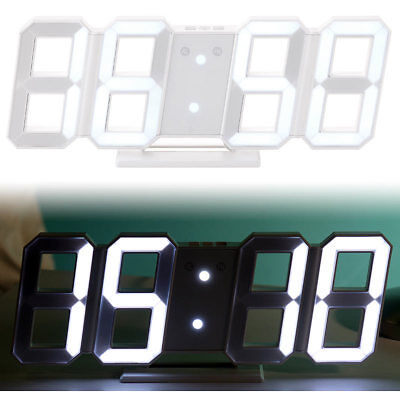 Digitaluhr: Digitale Jumbo-LED-Tisch- & Wanduhr, 3D, Wecker, dimmbar, 28 cm