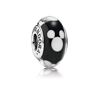 Pandora Murano Charm Disney Classic Mickey bead Silver S925 ALE 791633 New