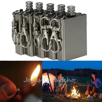 5pcs Survival Emergency Gear Camping Fire Starter Flint Metal Match Lighter Hike