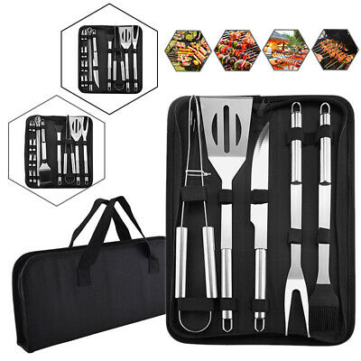 5/9/20 PCS BBQ TOOLS SET STAINLESS STEEL GRILL UTENSIL SET WITH BAG
