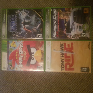 4 xbox 360 games barely played