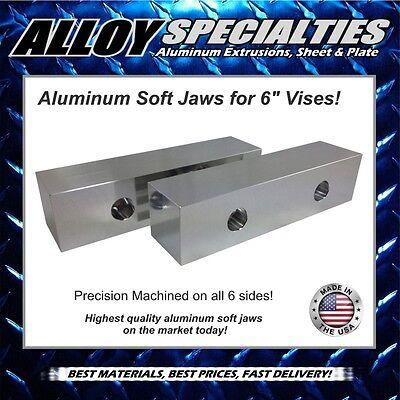 2 X 2 X 8 Fully Machined Premium Aluminum Soft Jaws For 6 Kurt Vise