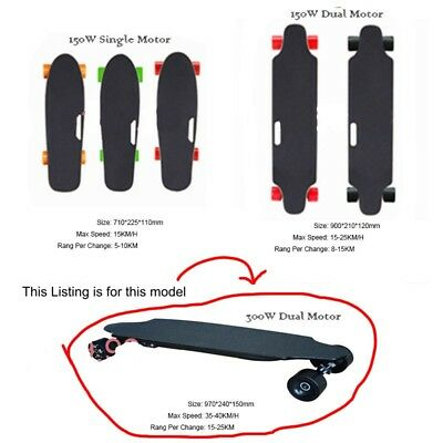 High Power Electric Dry Land Street Surf E Board Skateboard Dual Motor 300W 23Mp