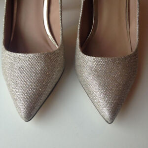 Champagne Sparkly High Heels