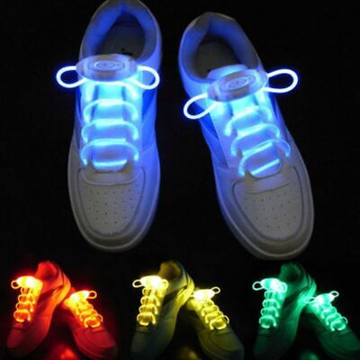 Glow Shoelace Light Up Shoe Strings Accessories Plastic Solid Elastic Kids Adult](Light Up Shoelace)