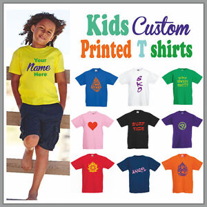 Custom Printed Toddler Shirts - All Sizes and Colors $15