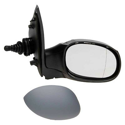 PEUGEOT 206 1998-2009 PRIMED MANUAL DOOR WING MIRROR DRIVERS SIDE RIGHT O/S