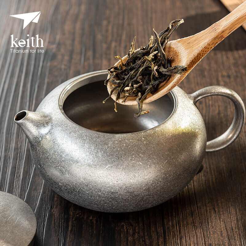 Keith Titanium 250ml Tea Pot Portable Ultralight Chinese KongFu Tea Pot Hiking