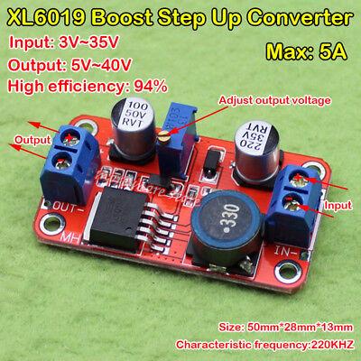 5a Dc-dc Boost Power Module Step Up Volt Converter 3.3v-35v To 5v 6v 9v 12v 24v